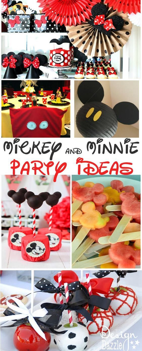 Mickey and Minnie Mouse Party and Food Decor Ideas - Design Dazzle #DisneySide #Mickeypartyideas #MinniePartyideas