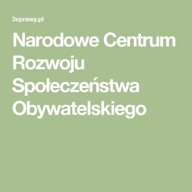 Narodowe Centrum Rozwoju Społeczeństwa Obywatelskiego