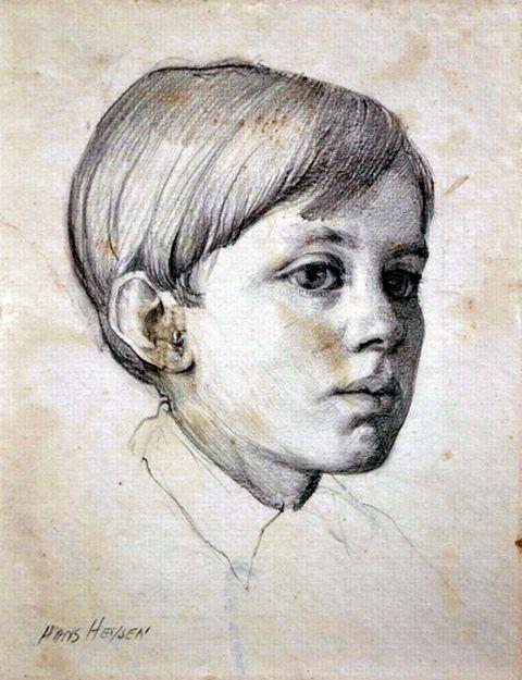 Head of a Boy (Possibly His Son Stefan Heysen)