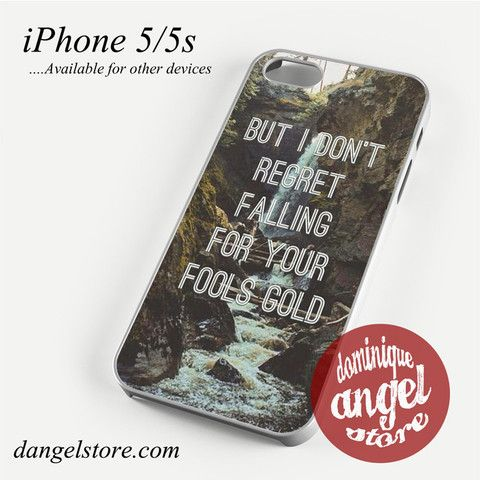 One Direction Quotes Fool's Gold (2) Phone case for iPhone 4/4s/5/5c/5s/6/6 plus