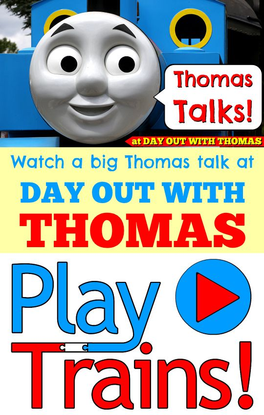 A fun train video for kids -- watch the new life-sized Talking Thomas at Day Out With Thomas talk!