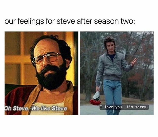 Steve after season two. Haven't seen season two but can't wait!!!