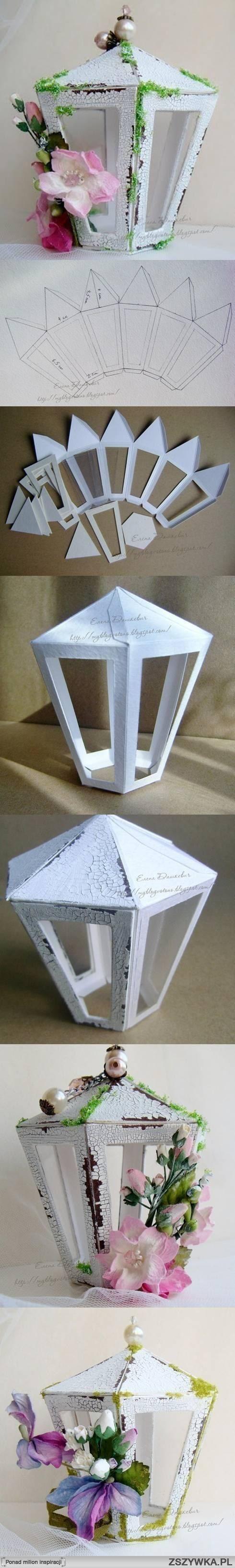 Zobacz zdjęcie diy, cardboard, lantern template, tutorial w pełnej rozdzielczości
