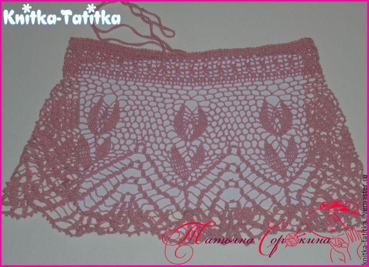 Купить Юбка пляжная - розовый, юбка, юбка ажурная, юбка лёгкая, мини юбка
