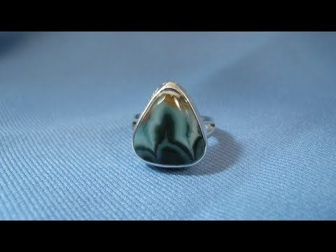 How to make a ring / split band ring with Agate stone