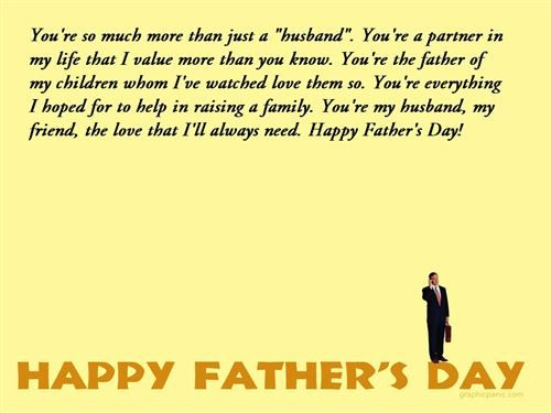 Fathers Day Quotes From Wife To Husband...