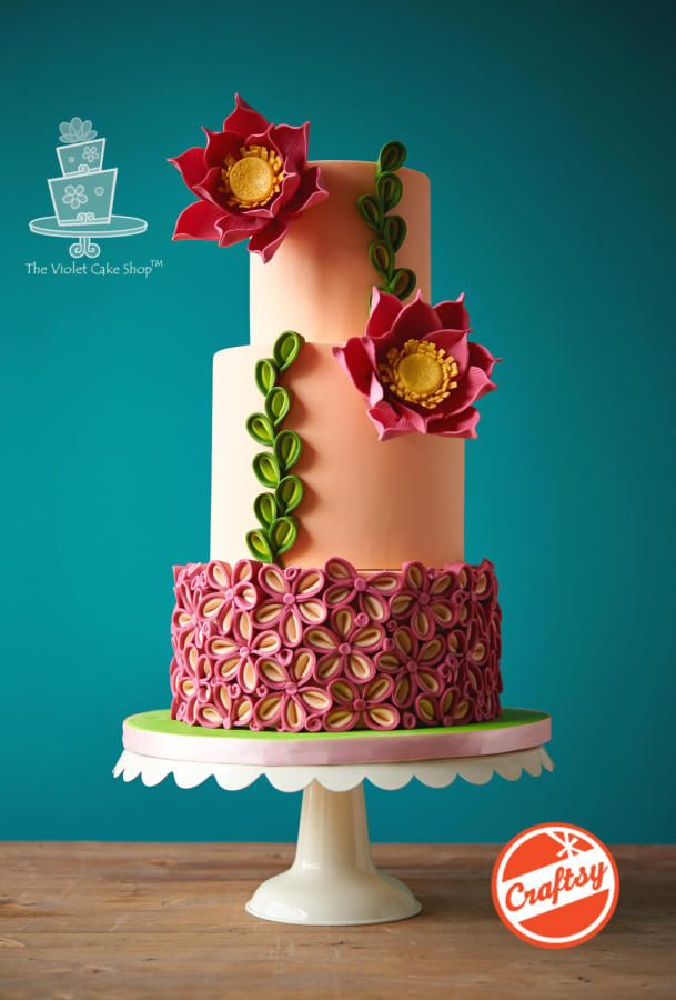TWO-TONED PETAL Floral Inspired Cake - Cake by Violet - The Violet Cake Shop