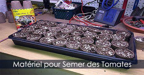 Tomates - Comment produire des tomates. Matériel pour semer des #tomates. guide : http://www.jardinage-quebec.com/guide/semis-de-tomates/graines-tomates-2.html