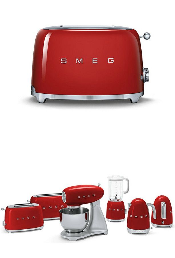 New 50's Retro Style small appliances by Smeg