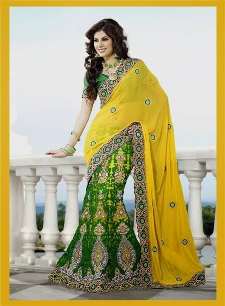 Cool yellow indian wedding dresses 2018-2019