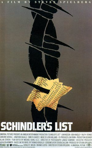 Saul Bass - Schindler's List, 1993 - Some of the best work by the American graphic designer and Oscar-winning film-maker can be seen in a new book published by Laurence King, who previously published the definitive guide to his life and work. Saul Bass: 20 Iconic Film Posters
