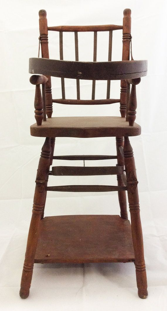 Wooden Baby High Chair converts to Play Table by BebeLoli on Etsy