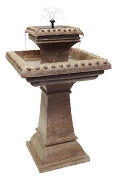 Pizzaro Solar Bird Bath Water Feature With Lights (H80cm) by Solaray™ £89.99