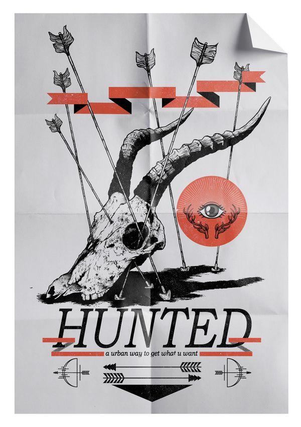 Hunted - Ilustration Series by Estudio Blanka , via Behance