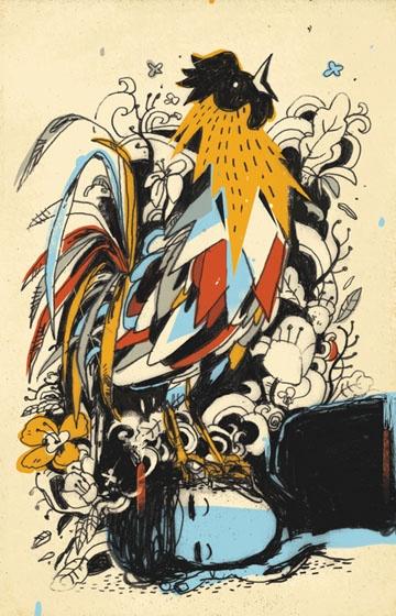 Rooster - illustration by josh cochran