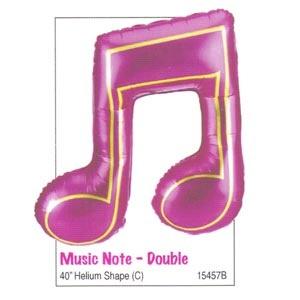 """40"""" Music (Double Note) Mylar Balloon"""