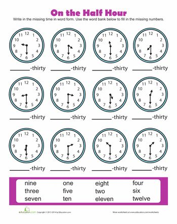 14 best Telling Time Worksheets images on Pinterest The hours - time worksheets
