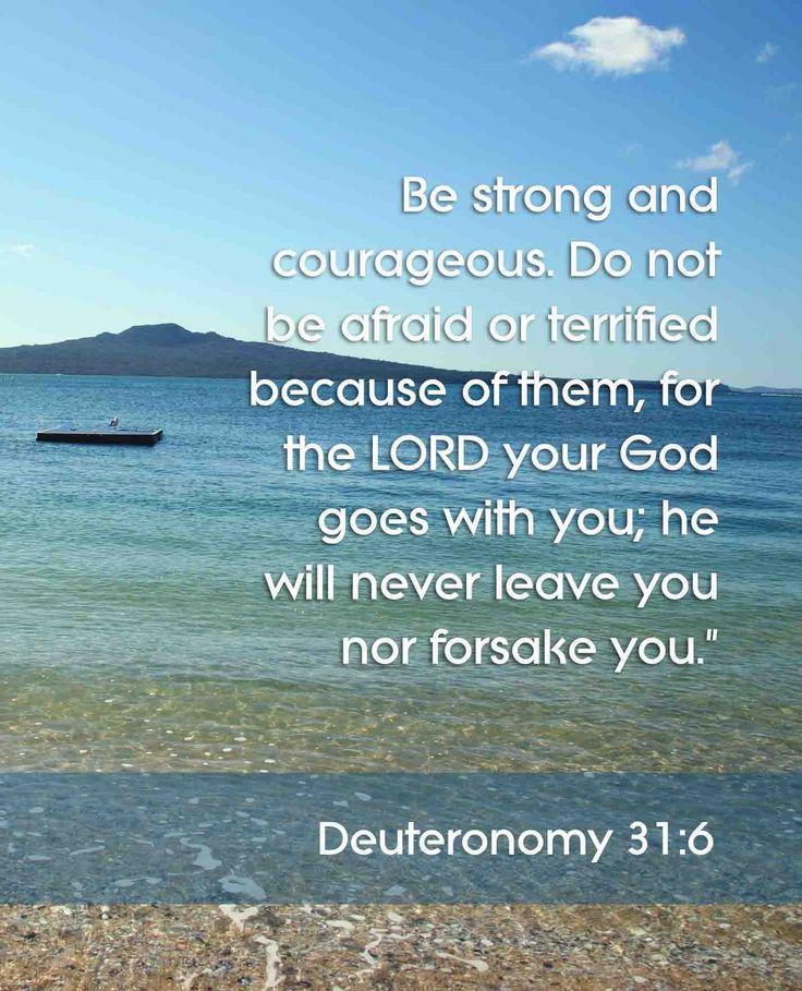 Bible Verses About Determination: Deuteronomy 31:6- My Favorite
