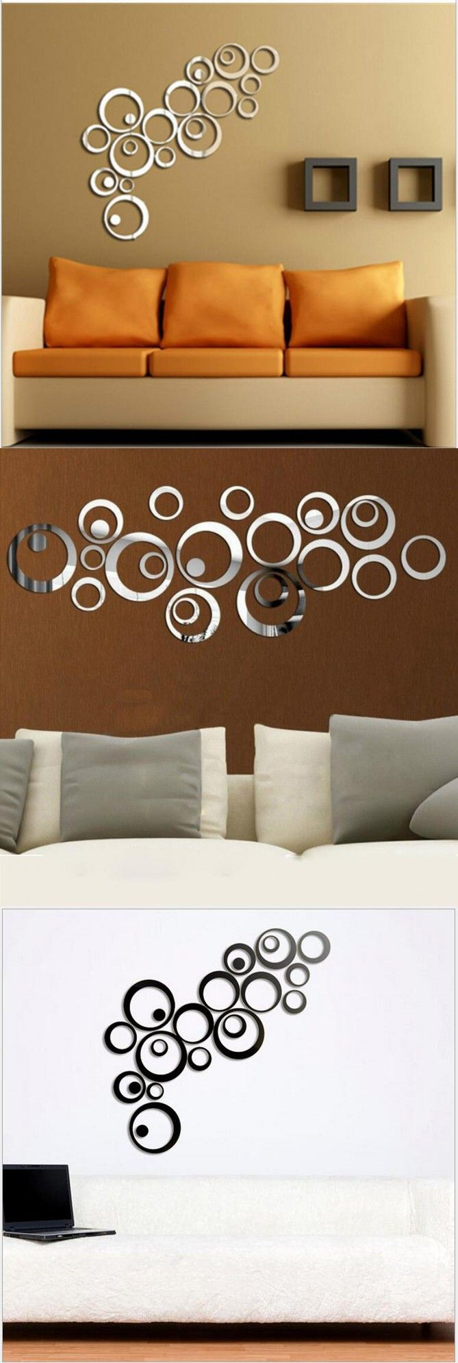 54 best cricut images on pinterest vinyl decals cricut vinyl acrylic wall sticker luxury 3d circles mirror wall sticker home decor bell cool wall stickers home decoration