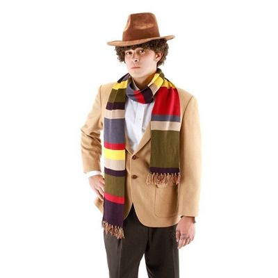 Dr.Doctor Who Scarf Cosplay Fourth 12 DELUXE Tom Baker Striped Fashion Spring Autumn Men's Wear on AliExpress