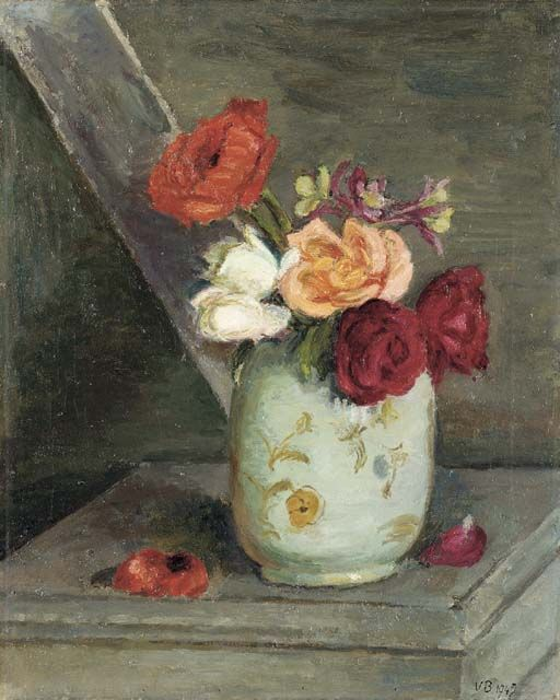 Vanessa Bell (1879-1961) Roses, Aquilegia and a Poppy, 1942