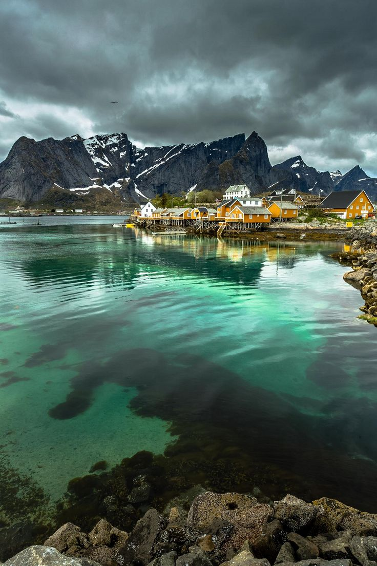 Black clouds at Sakrisøy, Lofoten, Norway by Europe Trotter