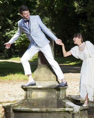 Veste de mariage seersucker
