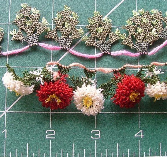 Oya flowers by ColorsofRengin on Etsy, $12.00