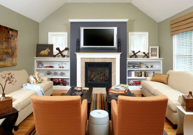 traditional family room by CHRISICOS INTERIORS