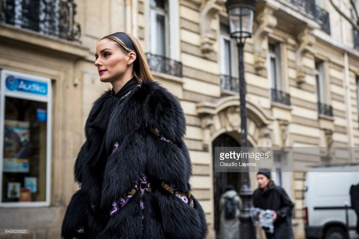 Olivia Palermo is seen in the streets of Paris after the Giambattista Valli show during Paris Fashion Week Womenswear Fall/Winter 2017/2018 on March 6, 2017 in Paris, France.