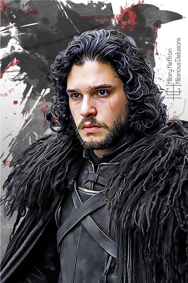Lord Commander Jon Snow (Kit Harington)   Game of Thrones - by Hilary Heffron, Hilarious Delusions