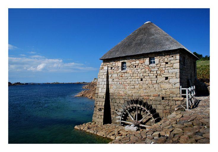 Le moulin à marée du Birlot - Ile de Bréhat - (Bretagne)  France