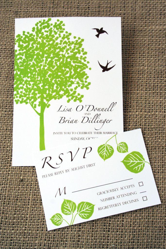 415 best invitations images on Pinterest Tree wedding
