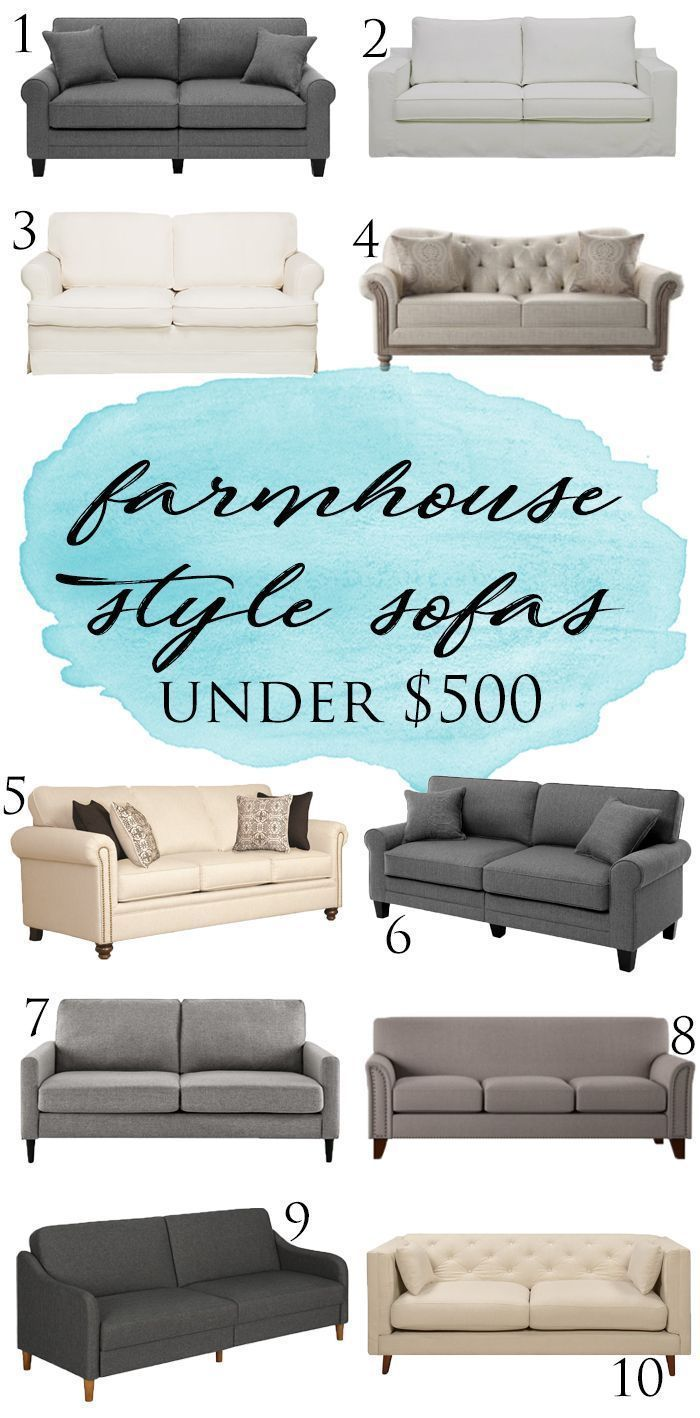 Great Ideas For A Farmhouse Sofa Under 500 Some As Low As 200 I Love These Sofa Idea Farmhouse Sofa Farm House Living Room Farmhouse Living Room Furniture
