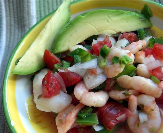 Mexican ceviche recipe scallops side salad and all love for Fish for ceviche