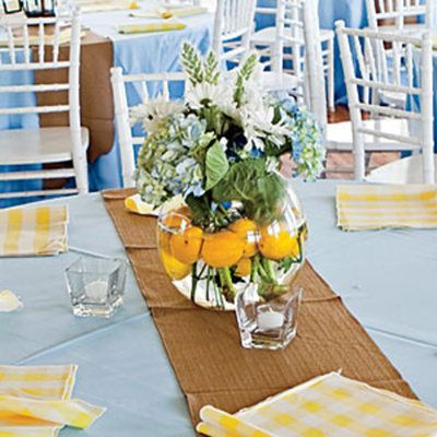 Cheery Blue and Yellow Centerpiece