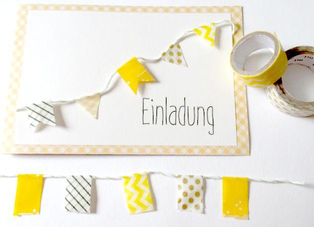 DIY Geburtstagskarte Mit Wimpelkette