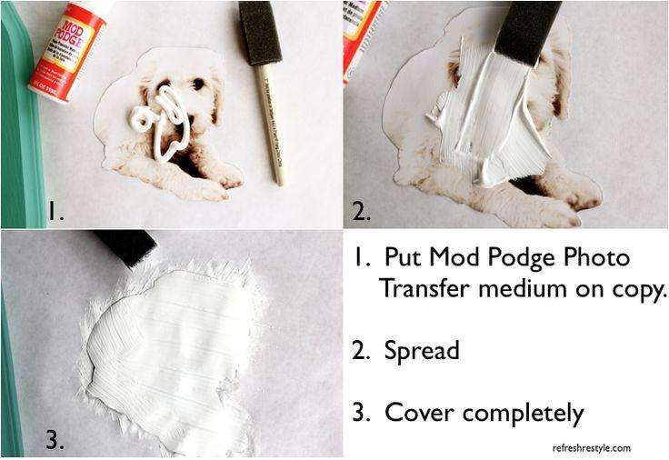 How to use Mod Podge Photo Transfer