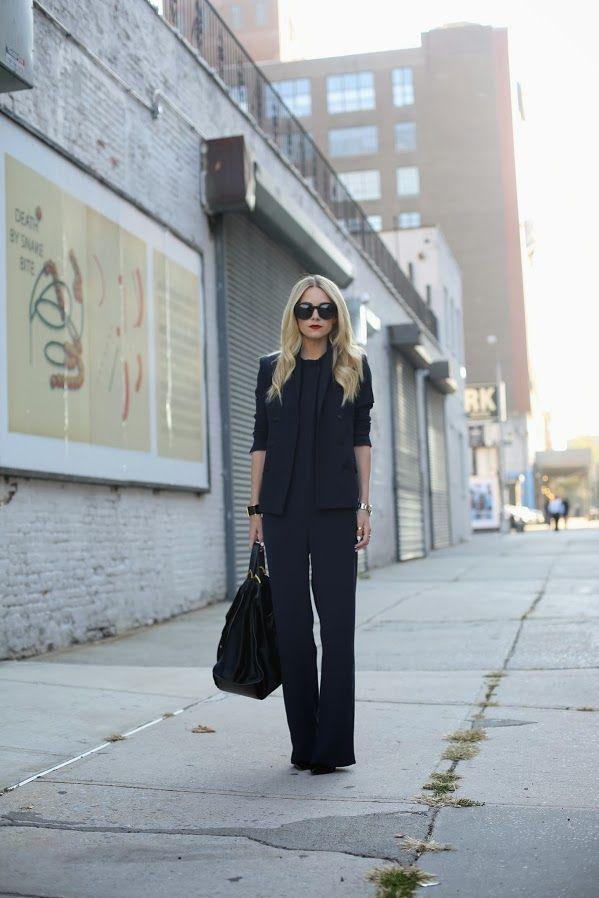 Jumpsuit: Zara. Blazer: Zara. Shoes: Christian Louboutin. Sunglasses: Karen Walker 'Super Duper'. Lips: Stila 'Beso'. Jewelry: Cariter, David Yurman, Pomellato. Bag: Gucci.