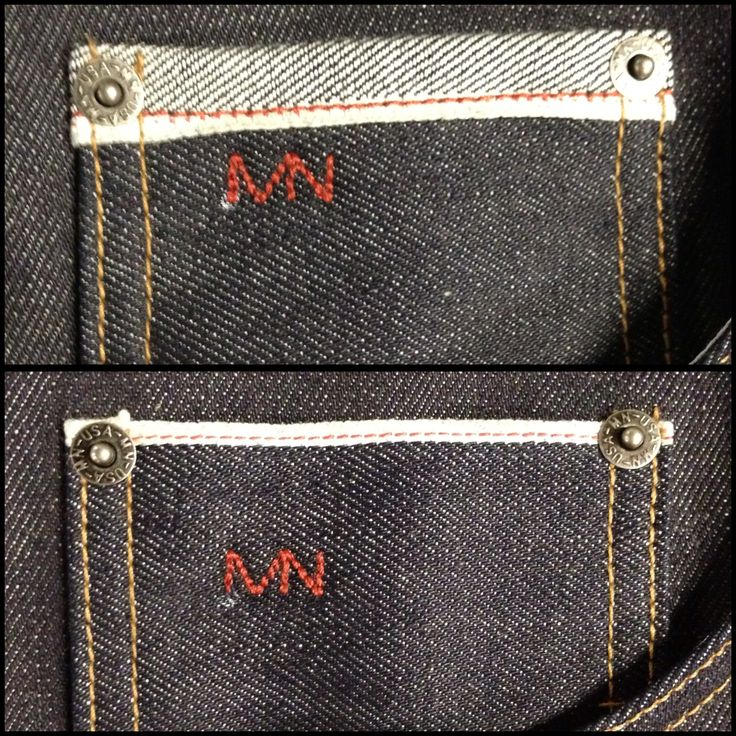 Our new coin pockets for our Selvage Denim Jeans