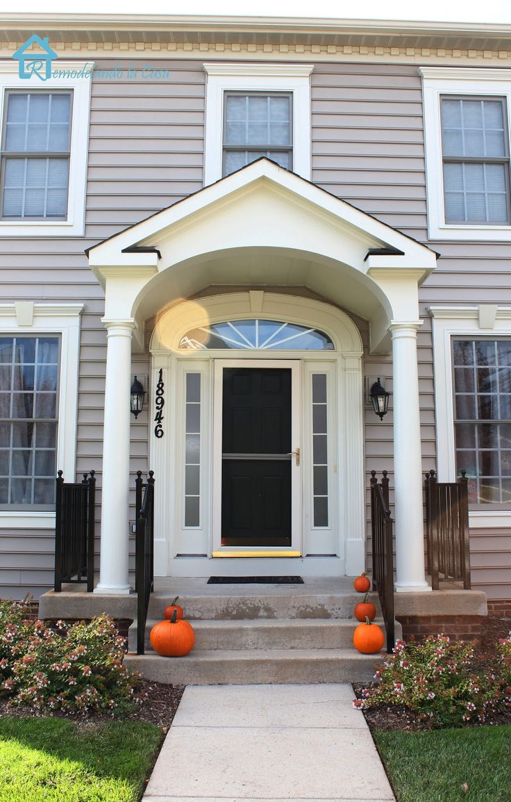 17 best images about porticos on pinterest walking tour for Porch door and frame