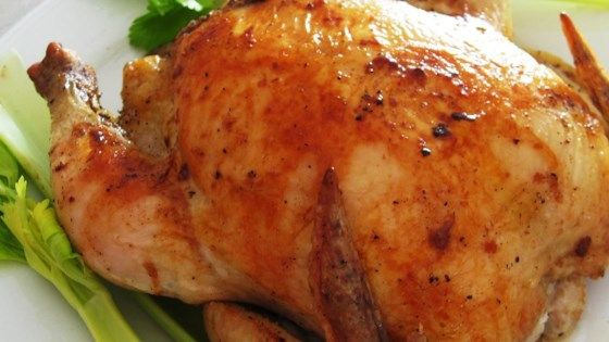 A couple of simple ingredients with no-fuss prep make a roast  whole chicken that many swear is the juiciest they've ever eaten.