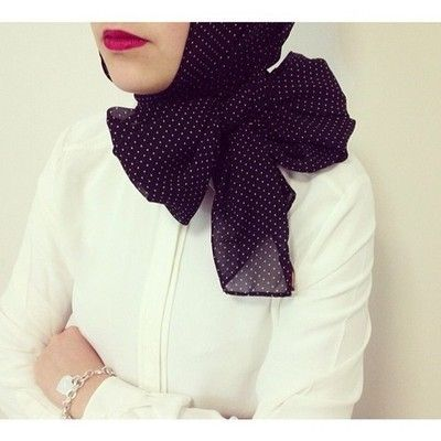 Hijab with a bow
