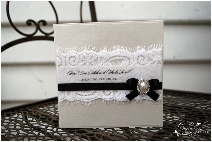 Gorgeous wedding invite from The Crystal Chandelier