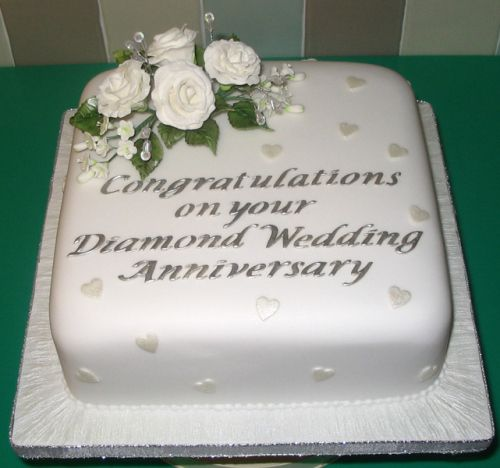 diamond wedding anniversary | Celebration Cakes » Diamond Wedding Anniversary