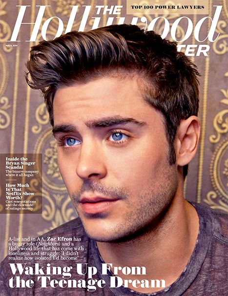 Zac Efron covers The Hollywood Reporter