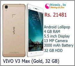 Vivo V3 Max 32GB Gold Mobile Rs 21481