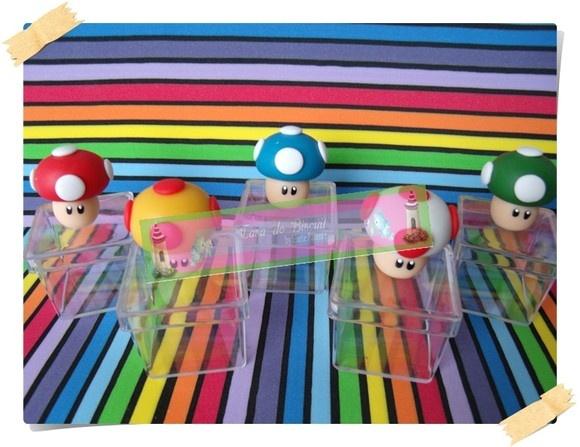 LEMBRANCINHA COGUMELOS MARIO BROS: Cogumelo Mario, Lembrancinha Cogumelos, Cogumelos Mario