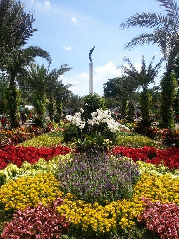 Beautiful garden in lapangan banteng