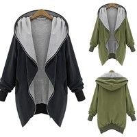 Wish   XL-5XLWarm Winter Women Zip Hooded Parka Overcoat Jacket Coat Trench Outwear Cardigans